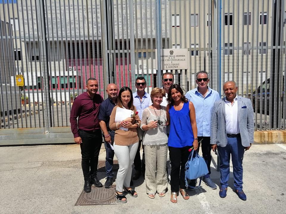 Il presidente della prima Camera penale di Larino, Roberto D'Aloisio, in visita ufficiale al carcere frentano