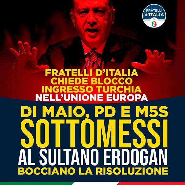 NO all'ingresso della Turchia in Europa.